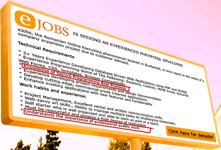 eJobs job posting - hahaha