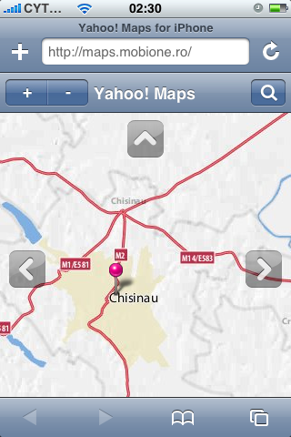 Yahoo Maps iPhone from MobiOne - Chisinau, Moldova